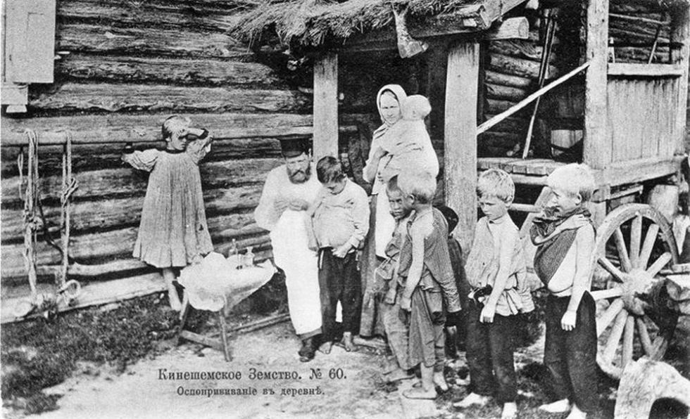 1906年,俄罗斯农村。天花的人痘接种法。