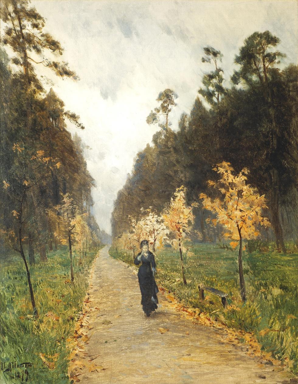 伊萨克·列维坦,《索科尔尼克的秋日》,1879年。藏于国立特列季亚科夫画廊。