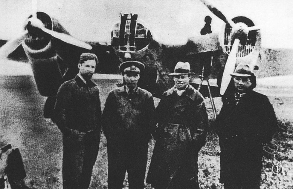 苏联飞行员在中国  涞源:Press Photo