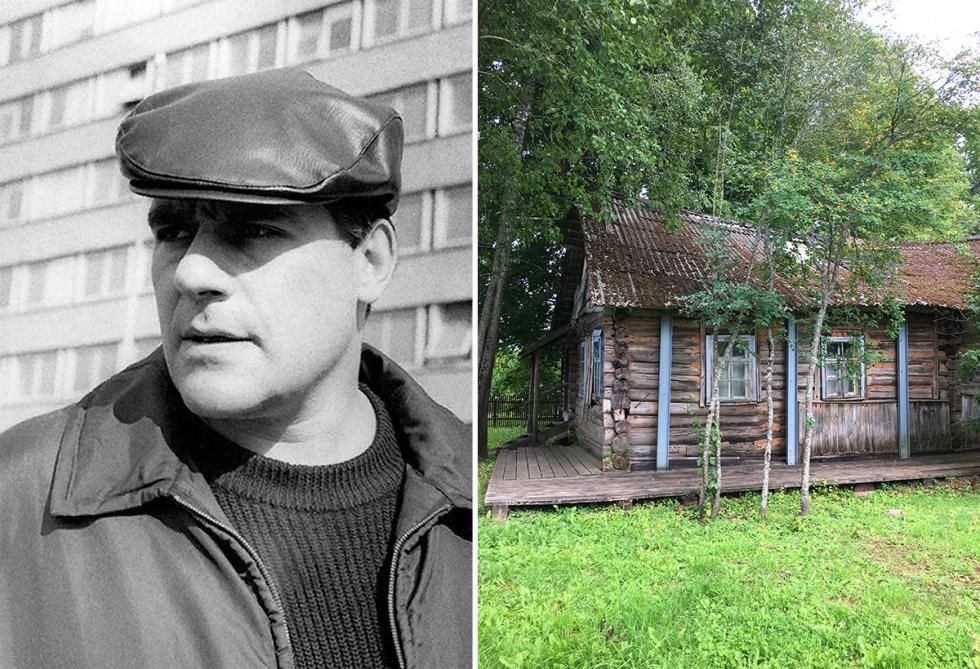 谢尔盖·多夫拉托夫和他曾经租住的那栋摇摇欲坠的小房子。图片来源:V.Klyuchik/Sergei Dovlatov family archive/russiainphoto.ru
