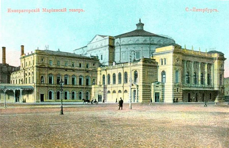 20世纪初,马林斯基剧院主楼 涞源:https://russiainphoto.ru/