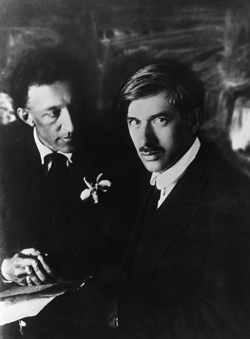 亚历山大·勃洛克和科尔涅伊·楚科夫斯基,1921年。图片来源:Moisei Nappelbaum / 俄新社