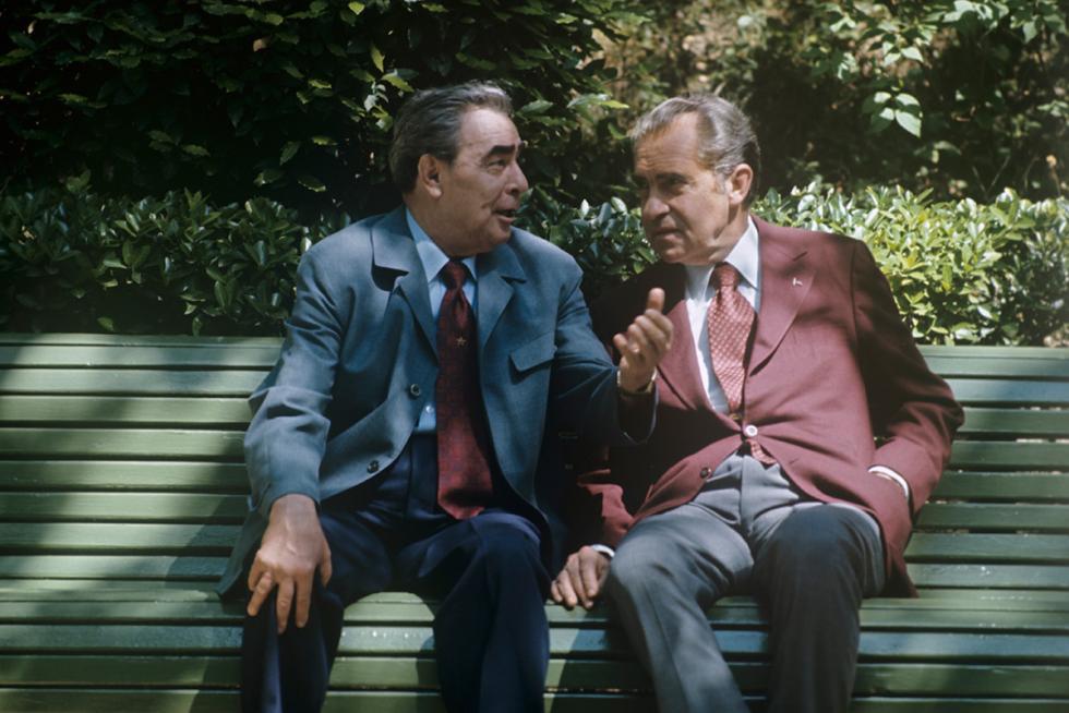 列昂尼德·勃列日涅夫和理查德·尼克松。图片来源:Eduard Pesov / 俄新社