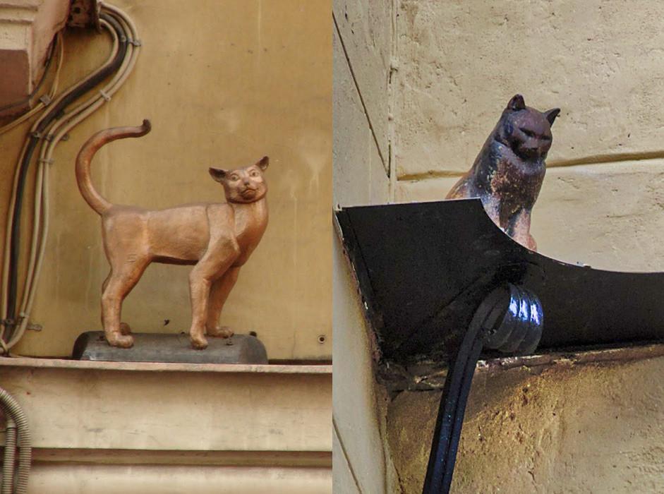 圣彼得堡马拉亚萨多瓦亚(小花园)街能看到公猫叶利赛和母猫瓦西莉萨的铜像。图片来源:Dmitry Djouce/flickr.com; Visit Petersburg