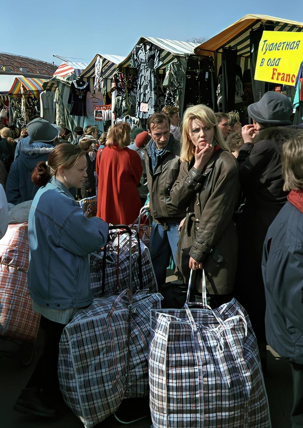 90年代,在莫斯科的市场 / Yuri Abramochkin/russiainphoto.ru