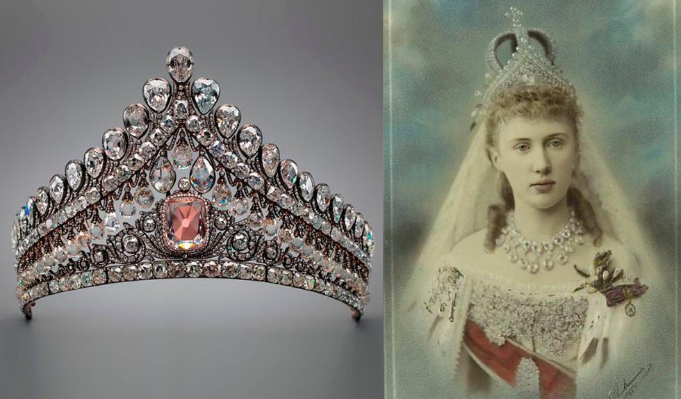 伊丽莎白·马克夫里基叶夫娜女大公,1884年。图片来源:Diamond Fund of Russia; THE NEW YORK PUBLIC LIBRARY