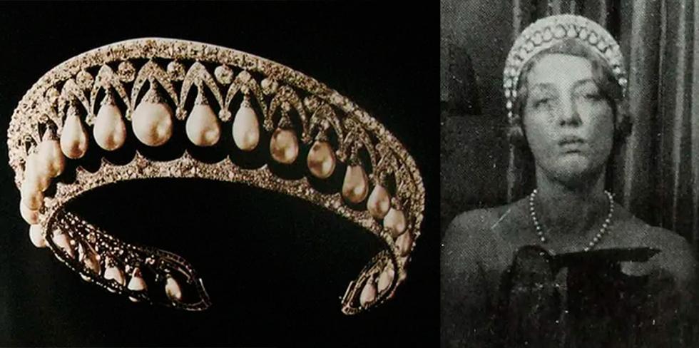 英国九世公爵马尔波罗妻子佩戴珍珠王冠。公开来源