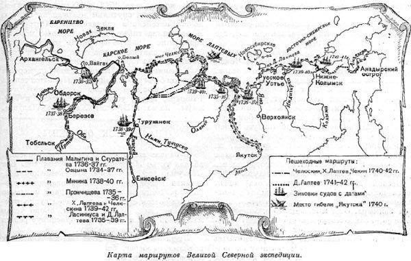 大北方探险路线图。公开来源