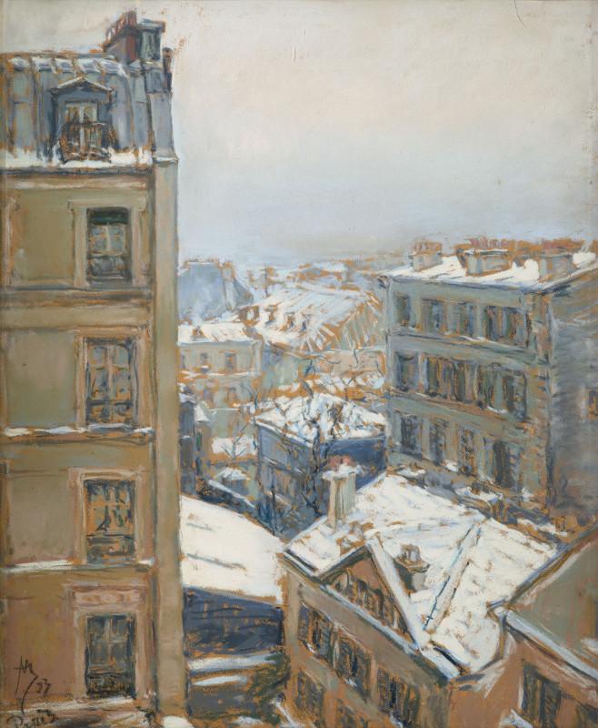 《冬天的巴黎》,1893年。 图片来源:特列季亚科夫画廊