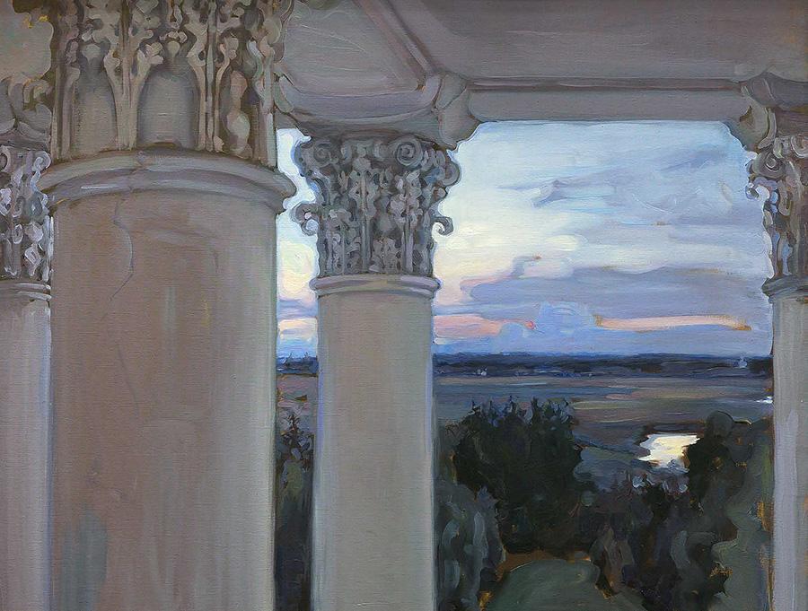 《从旧房子的窗户望去。韦坚斯科耶庄园》,1897年。图片来源:特列季亚科夫画廊
