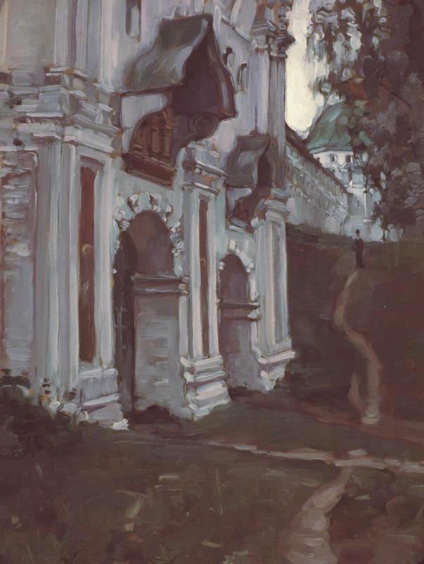 《萨文·兹韦尼哥罗德修道院墙边》,1897年。图片来源:特列季亚科夫画廊