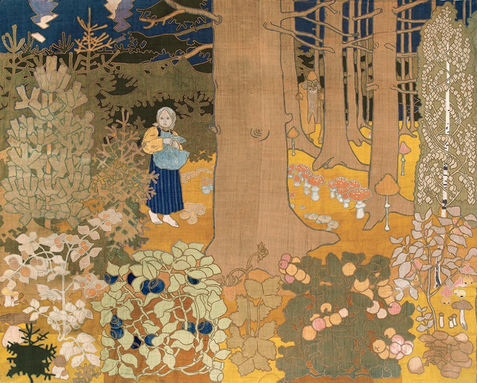 《小姑娘与树妖》,1900年。图片来源:Christie's Images Limited