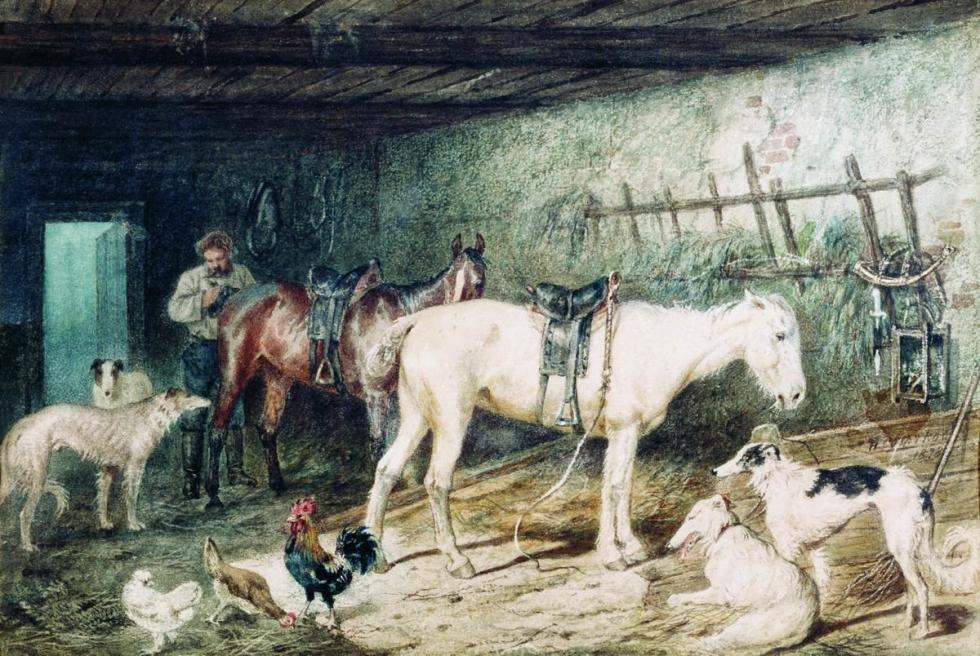尼古拉·斯维尔奇科夫(Nikolay Sverchkov),客店马厩,1878年。