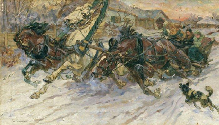 尼古拉·萨莫基什(Nikolay Samokish),三套马车,十九世纪末。