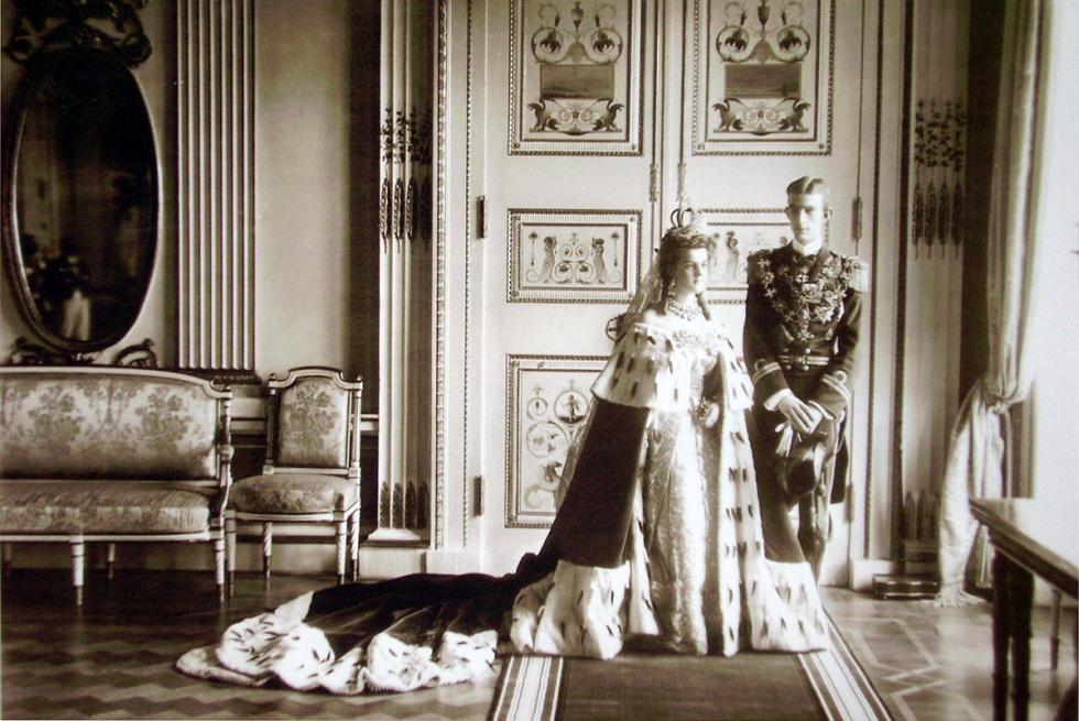 亚历山大二世孙女玛利亚·帕夫洛夫娜女大公和南曼兰公爵威尔海姆的婚礼,1908年。图片来源:gov.cap.ru