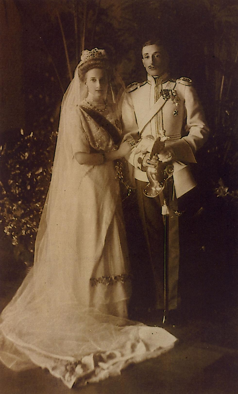 塔季娅娜·康斯坦丁诺夫娜公女和格鲁吉亚公爵康斯坦丁·巴格拉季昂-穆赫兰斯基。图片来源:公开来源