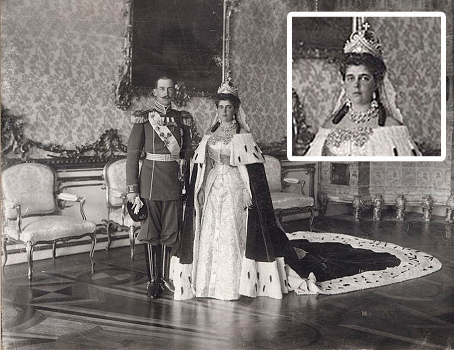 叶列娜·弗拉基米尔诺夫娜女大公和希腊和丹麦王子尼古拉奥斯。图片来源:公开来源