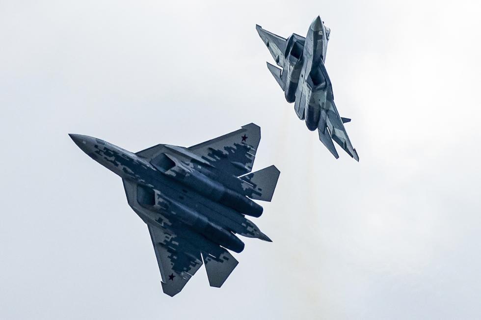 第五代苏-57多用途战斗机 。Pavel Golovkin/AP