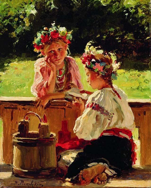 《阳光照耀下的女孩》,1901年,阿斯特拉罕多加金画廊。