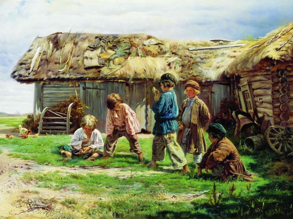 《打拐子》,1870年,国立特列季亚科夫画廊。