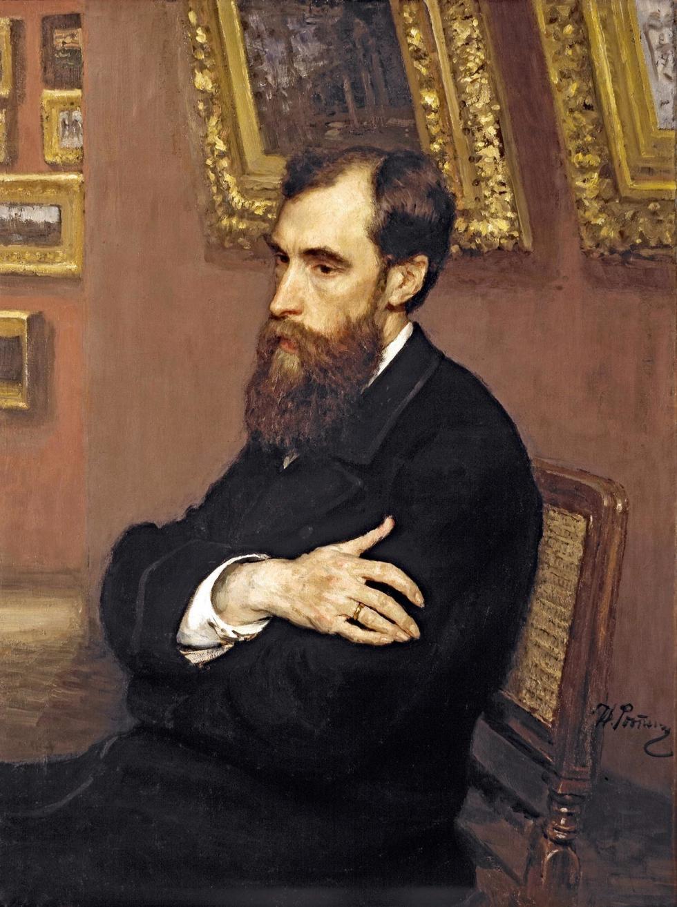 帕维尔·特列季亚科夫肖像。画家:伊利亚·列宾(Iliya Repin)。图片来源:Tretyakov gallery