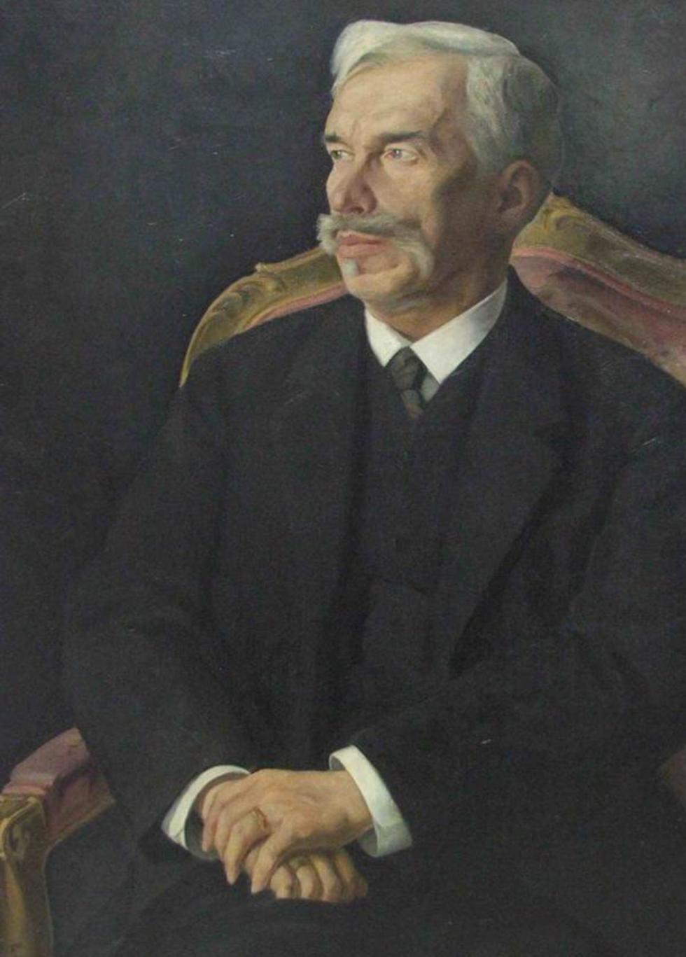 谢尔盖·休金肖像。画家:德米特里·梅利尼科夫(Dmitry Melnikov)。图片来源:State Pushkin Museum of Fine Arts