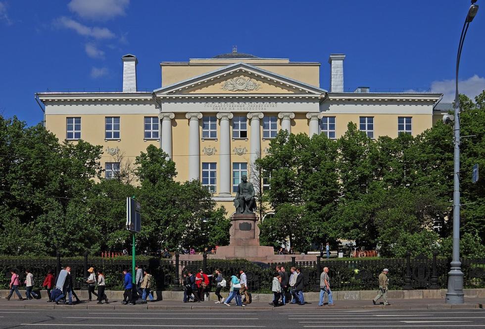 位于莫霍瓦亚街的莫斯科国立大学老建筑。图片来源:A.Savin (CC BY-SA 3.0)