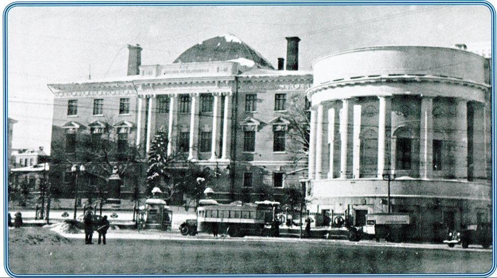 1936-1941年期间的莫斯科国立大学。档案照片