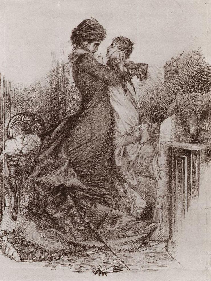 《安娜·卡列尼娜与儿子见面》,1878年,莫斯科国立特列季亚科夫画廊