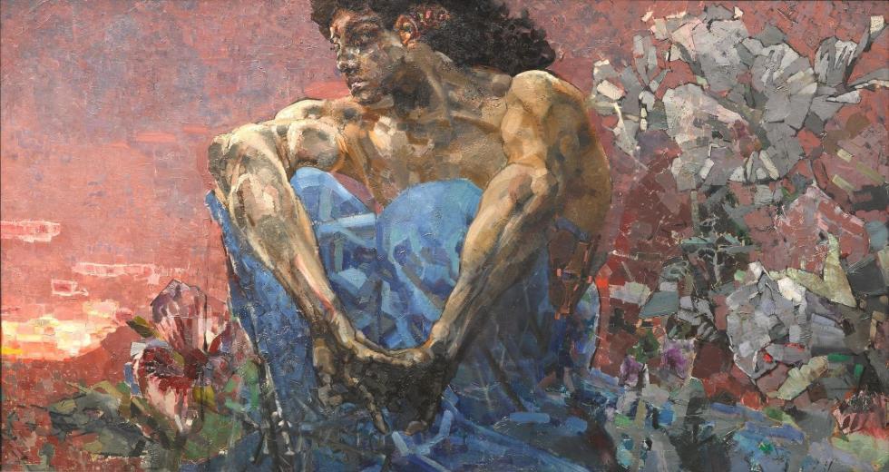 《坐着的天魔》,1890年,莫斯科国立特列季亚科夫画廊