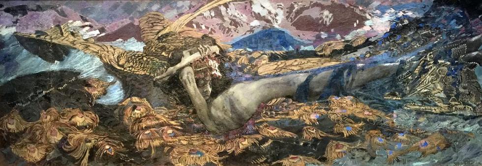 《被推倒的天魔》,1902年,国立特列季亚科夫画廊