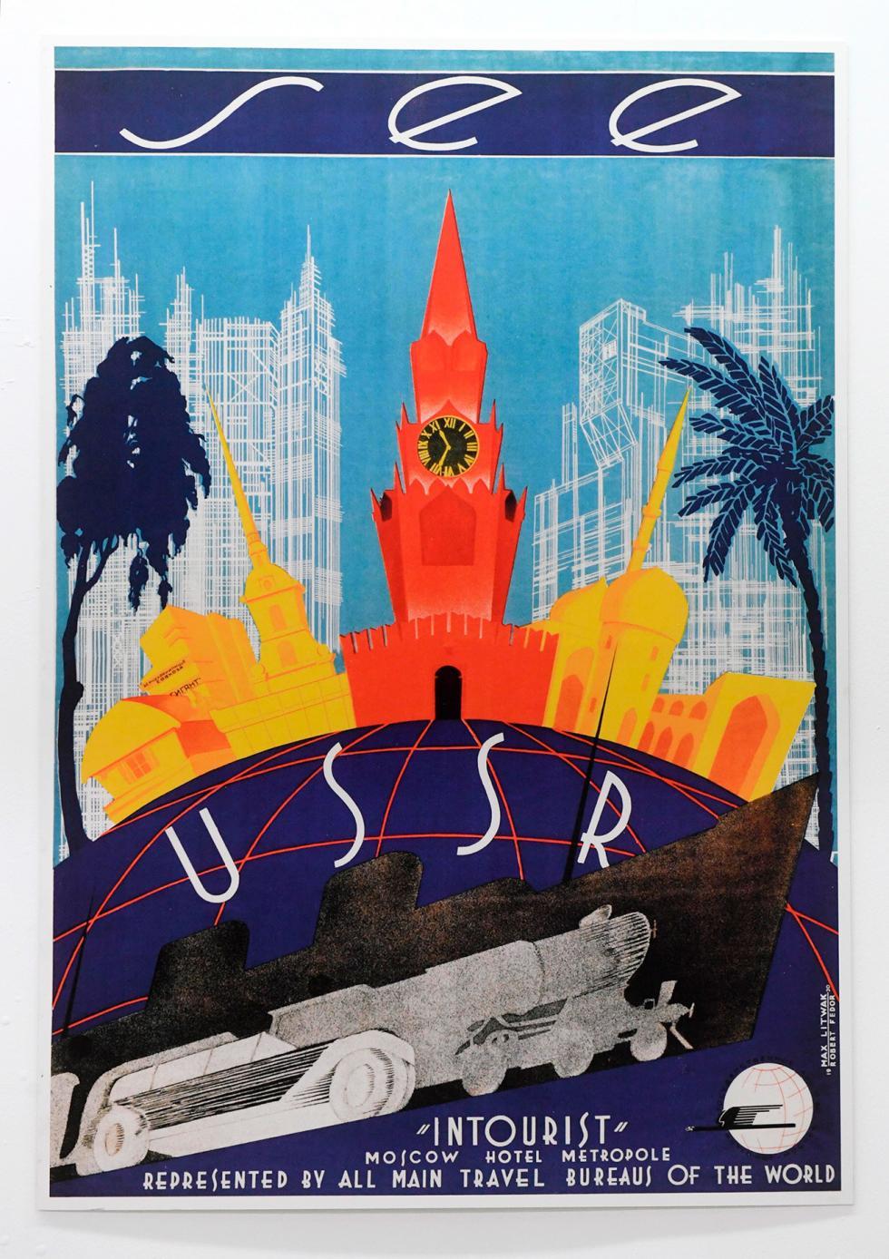 苏联国际旅行社海报,1930年。图片来源:Kirill Kallinikov/俄新社