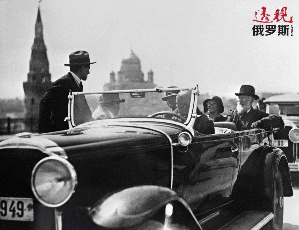 萧伯纳(Bernard Shaw)在莫斯科,1931年。图片来源:俄新社