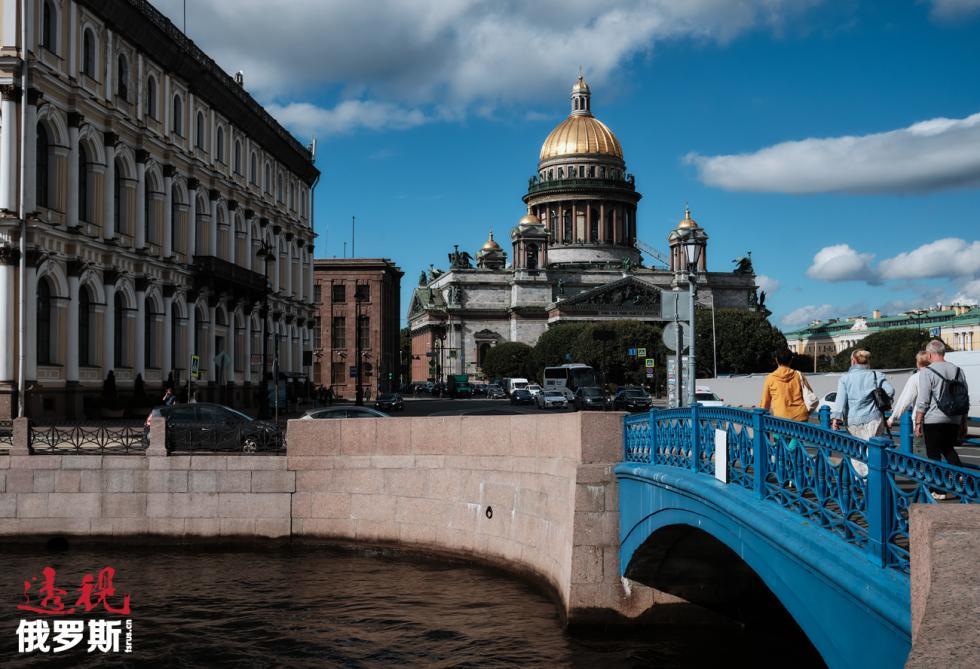 今日圣彼得堡。图片来源:Aleksey Danichev / 俄新社