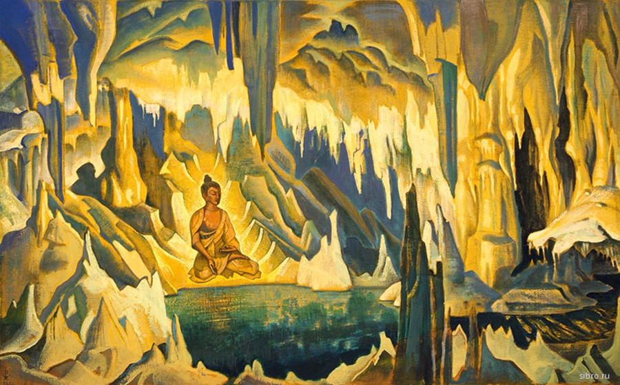 尼古拉·罗瑞克 (Nikolai Rerikh),《佛陀胜利者》,1925年 / 来源:下诺夫哥罗德的国立美术博物馆