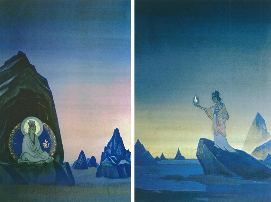 《烈火瑜伽。双联画》,1928 年 / Nikolas Roerich Museum in New York