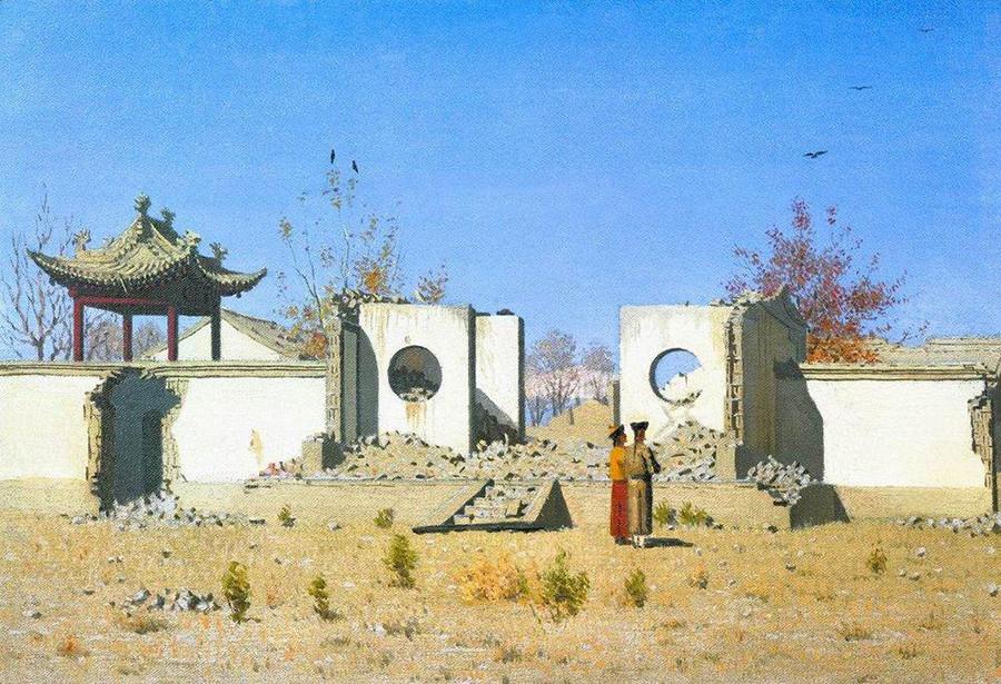 《中国庙宇废墟。阿肯特》,1870 年 / 特列季亚科夫画廊
