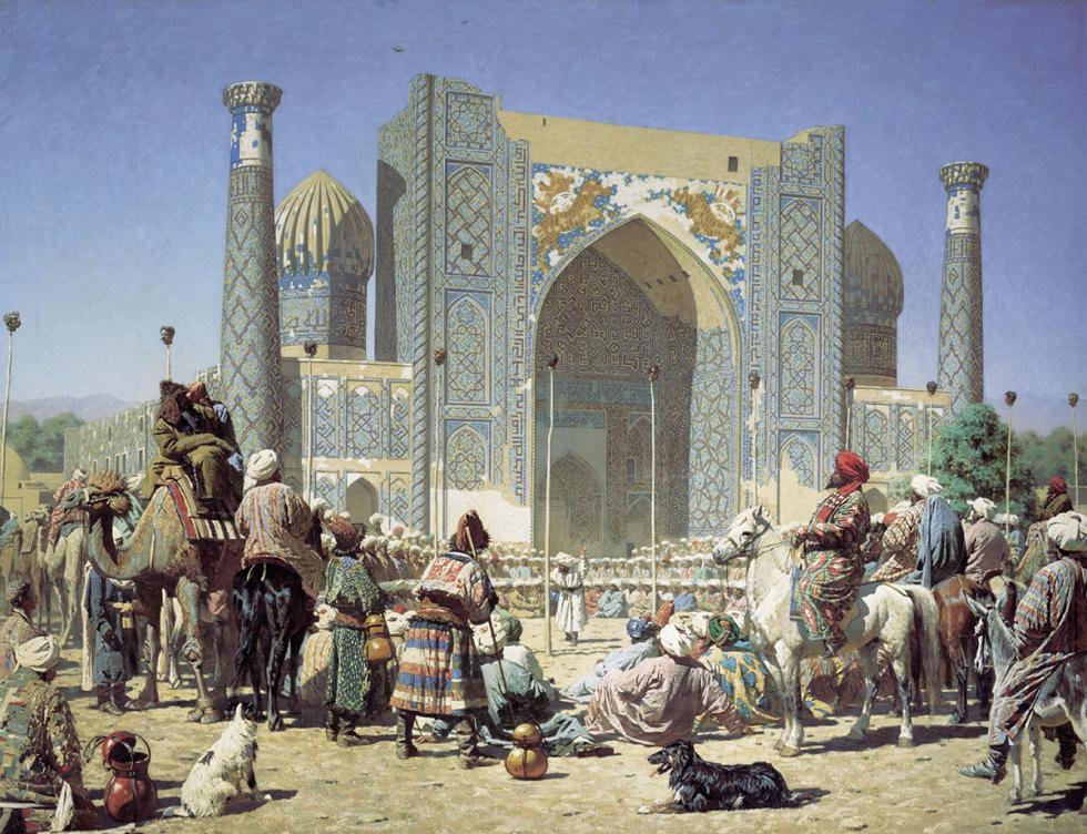 《欢庆》,出自《野蛮人》系列,1872年/特列季亚科夫画廊