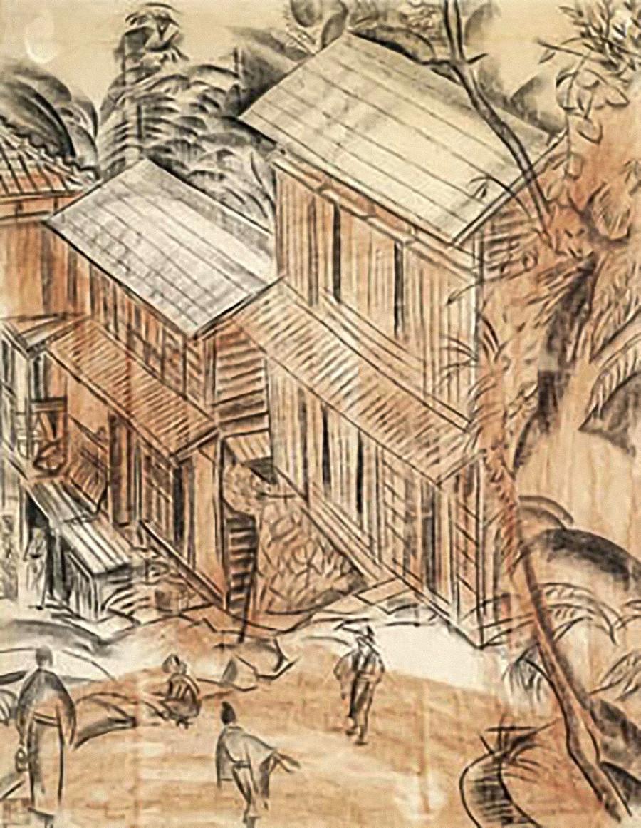 《日本街头》,1919年 / 私人收藏