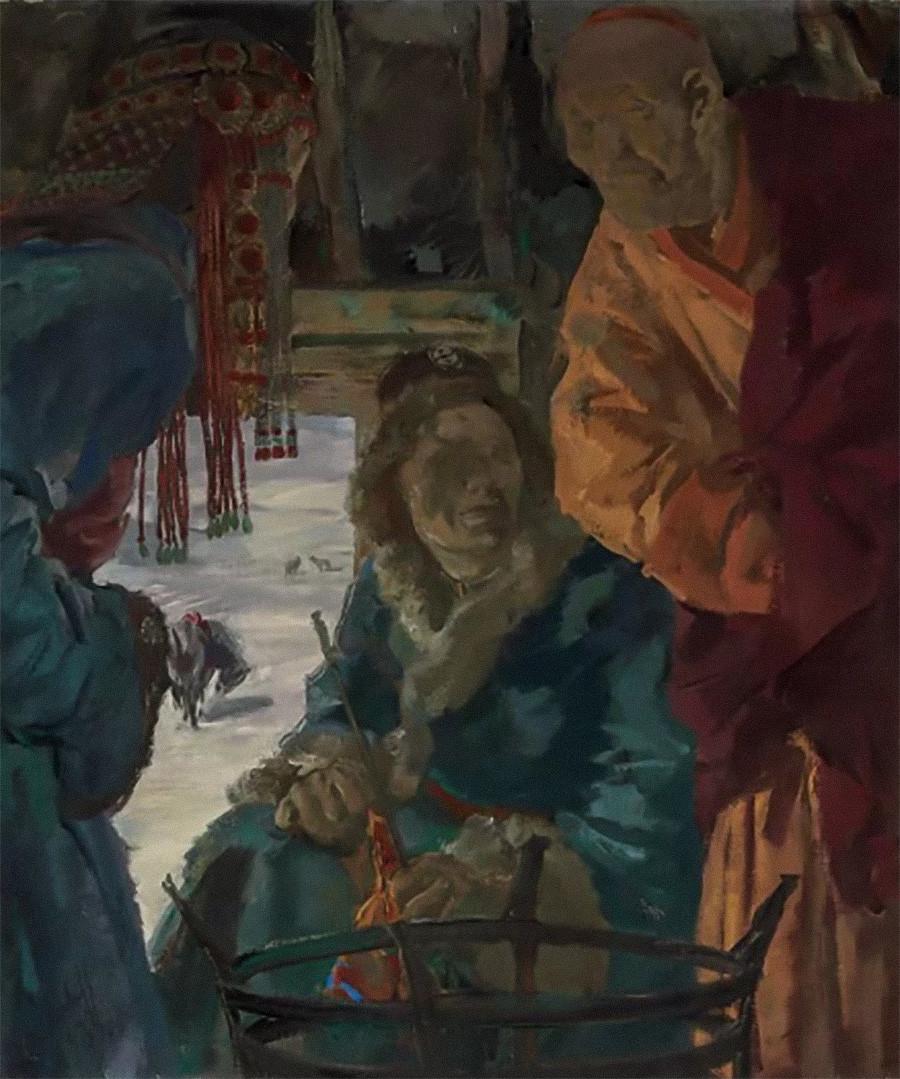 《喇嘛的拜访》,1933 年 / 私人收藏