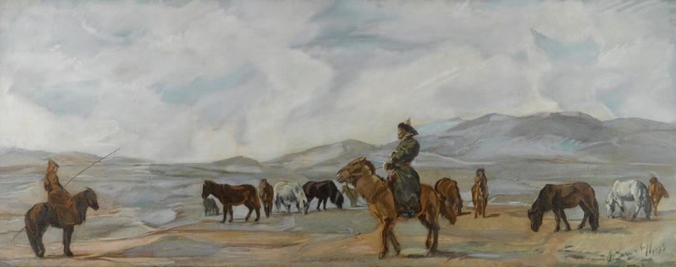 《蒙古人》,1933年 / 尼古拉·罗瑞克的国际博物馆-中心